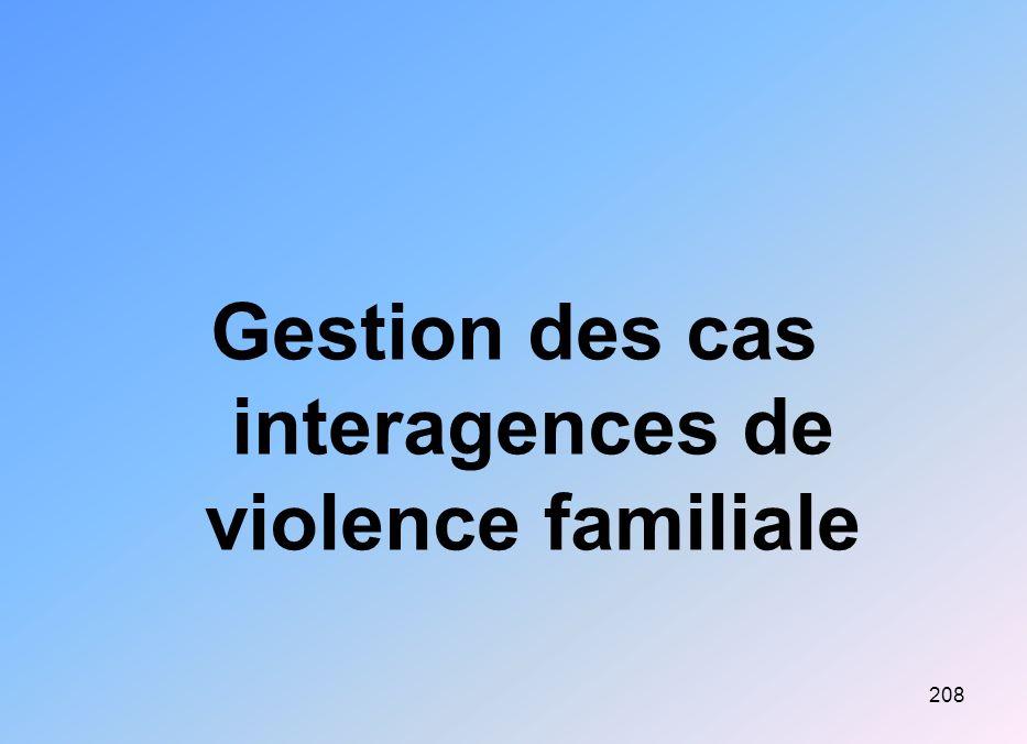 Gestion des cas interagences de violence familiale