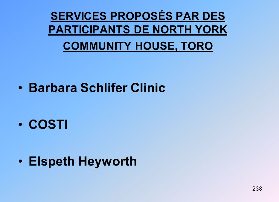 Barbara Schlifer Clinic COSTI Elspeth Heyworth