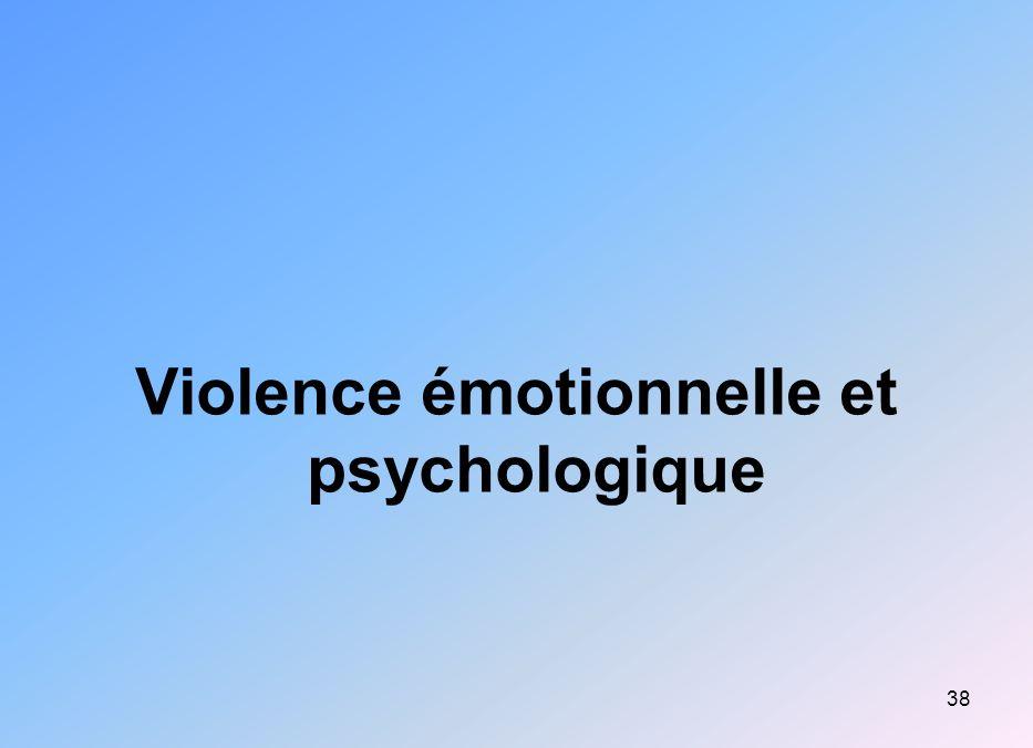 Violence émotionnelle et psychologique