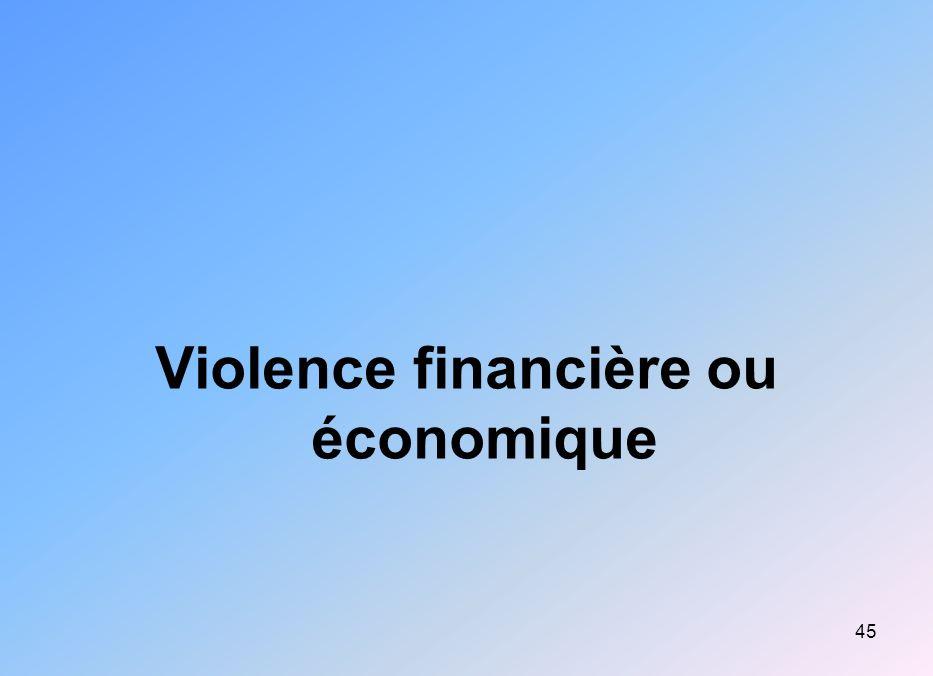 Violence financière ou économique