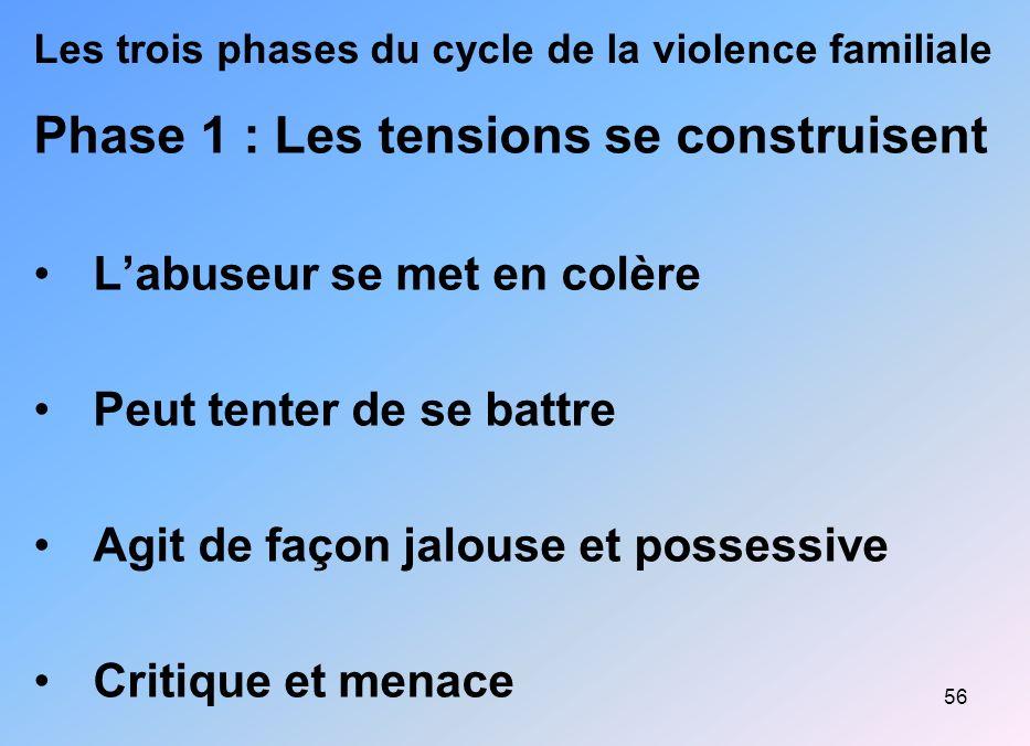 Les trois phases du cycle de la violence familiale