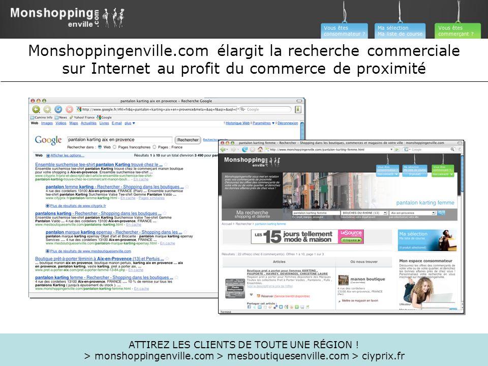 Monshoppingenville.com élargit la recherche commerciale sur Internet au profit du commerce de proximité