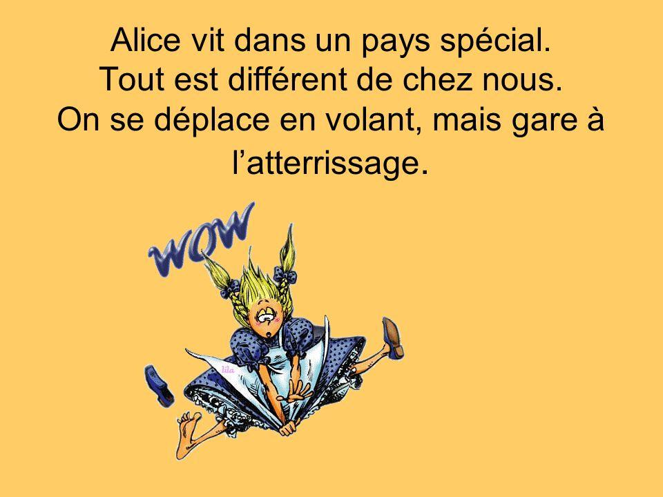 Alice vit dans un pays spécial. Tout est différent de chez nous