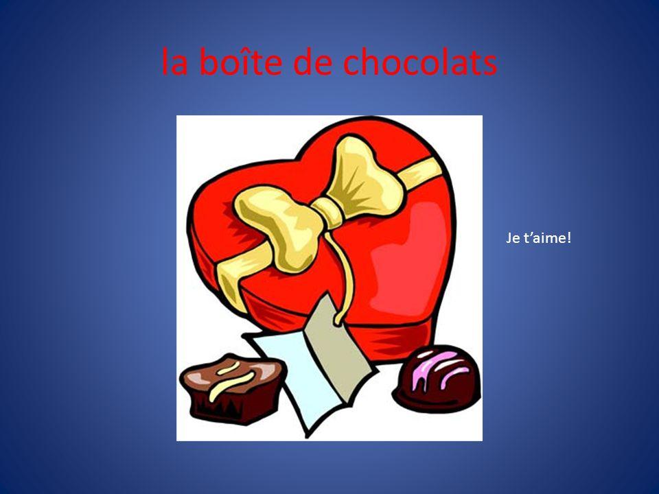 la boîte de chocolats Je t'aime!