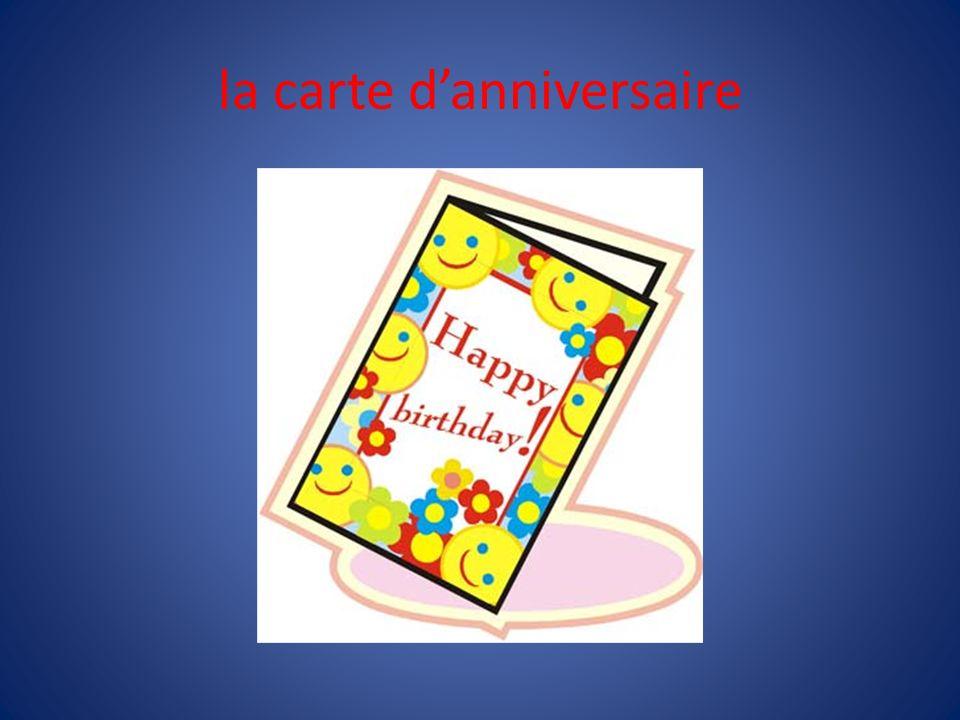 la carte d'anniversaire