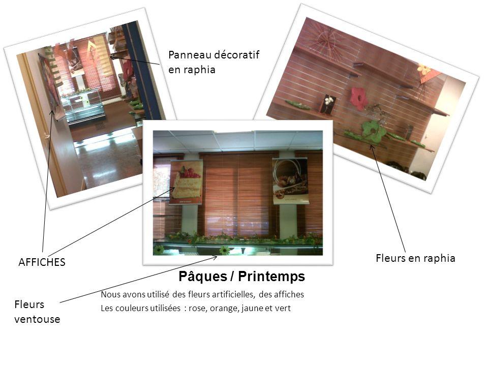 Pâques / Printemps Panneau décoratif en raphia Fleurs en raphia