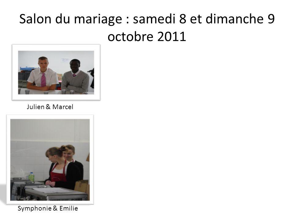 Salon du mariage : samedi 8 et dimanche 9 octobre 2011