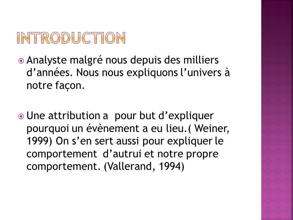 Introduction Analyste malgré nous depuis des milliers d'années. Nous nous expliquons l'univers à notre façon.