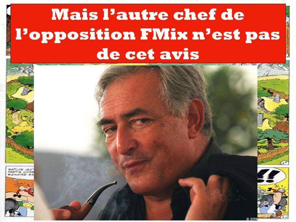 Mais l'autre chef de l'opposition FMix n'est pas de cet avis