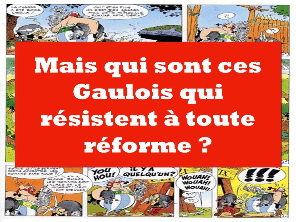 Mais qui sont ces Gaulois qui résistent à toute réforme