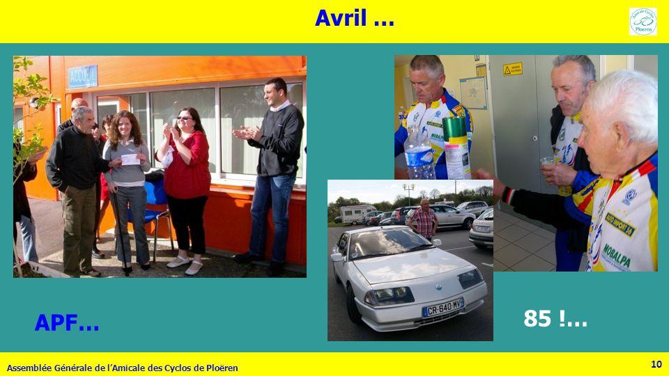 Avril … APF… 85 !… Assemblée Générale de l'Amicale des Cyclos de Ploëren 10