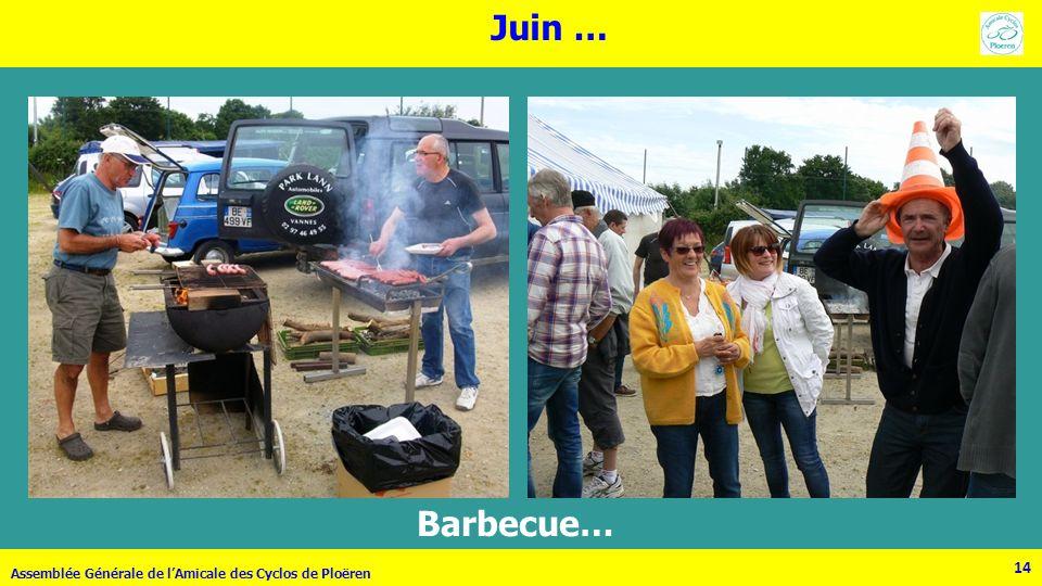 Juin … Barbecue… Assemblée Générale de l'Amicale des Cyclos de Ploëren 14