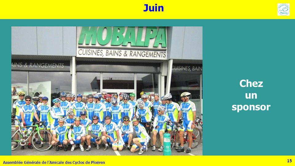 Juin Chez un sponsor Assemblée Générale de l'Amicale des Cyclos de Ploëren 15