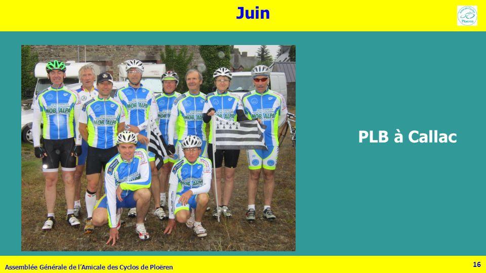 Juin PLB à Callac Assemblée Générale de l'Amicale des Cyclos de Ploëren 16