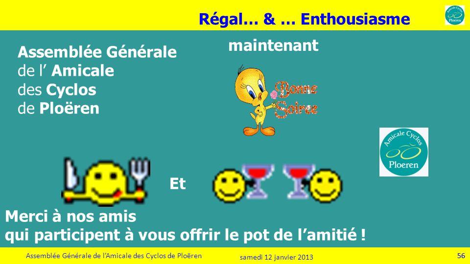 Régal… & … Enthousiasme