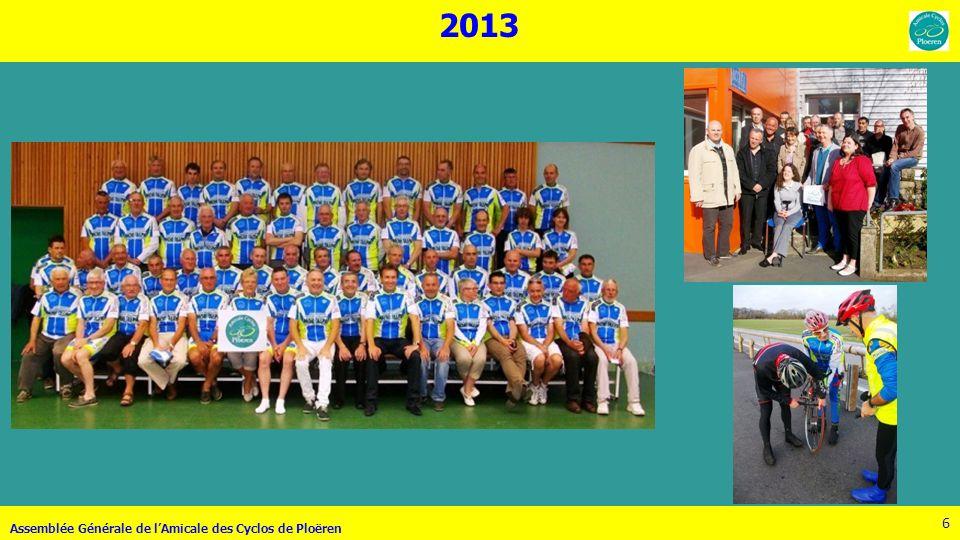 2013 Assemblée Générale de l'Amicale des Cyclos de Ploëren
