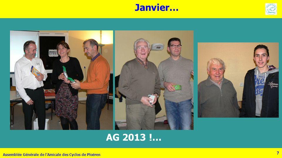 Janvier… AG 2013 !… Assemblée Générale de l'Amicale des Cyclos de Ploëren 7
