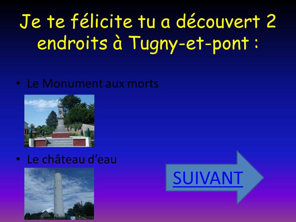 Je te félicite tu a découvert 2 endroits à Tugny-et-pont :