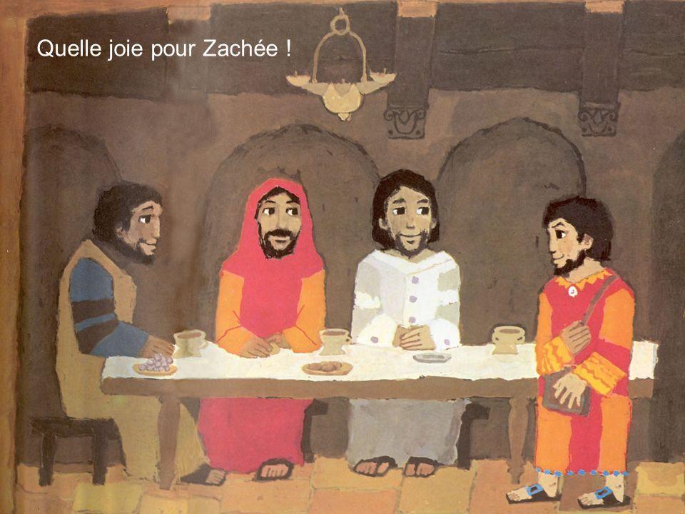 Quelle joie pour Zachée !