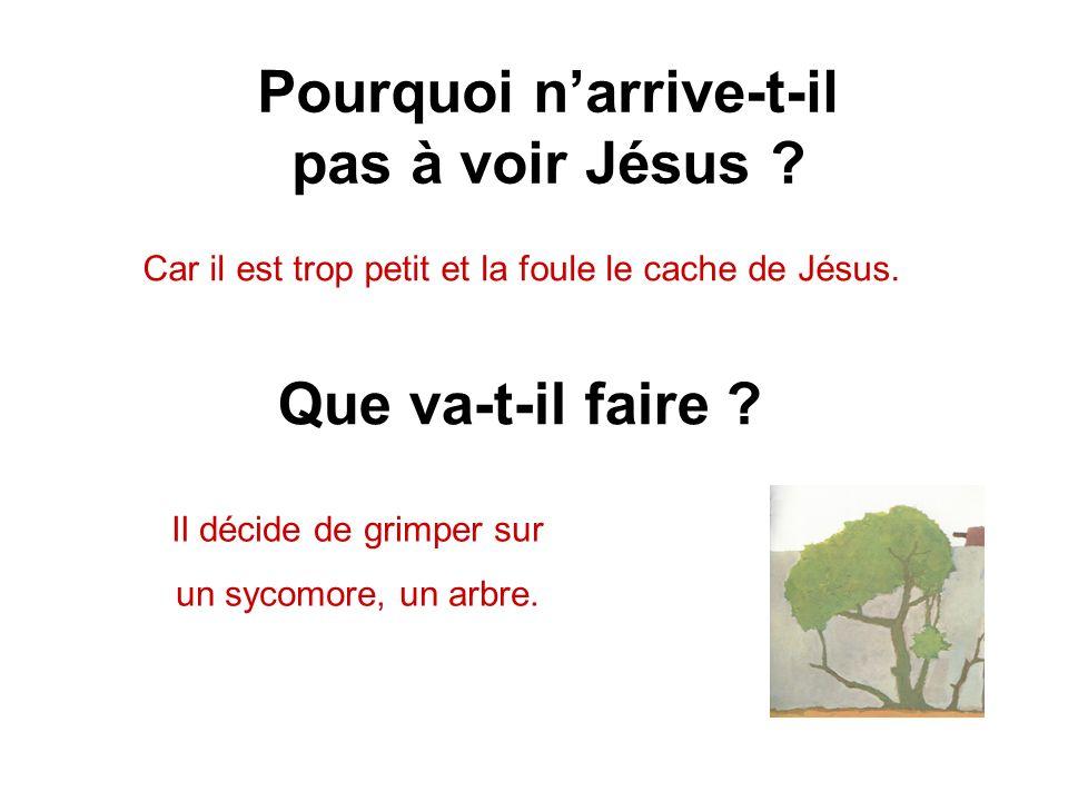 Pourquoi n'arrive-t-il pas à voir Jésus