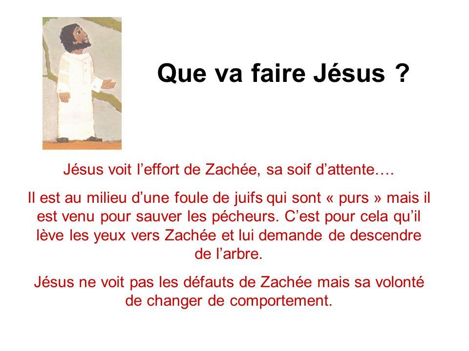 Jésus voit l'effort de Zachée, sa soif d'attente….