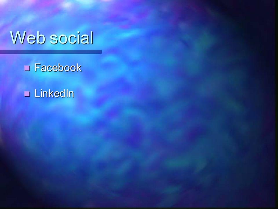 Web social Facebook LinkedIn