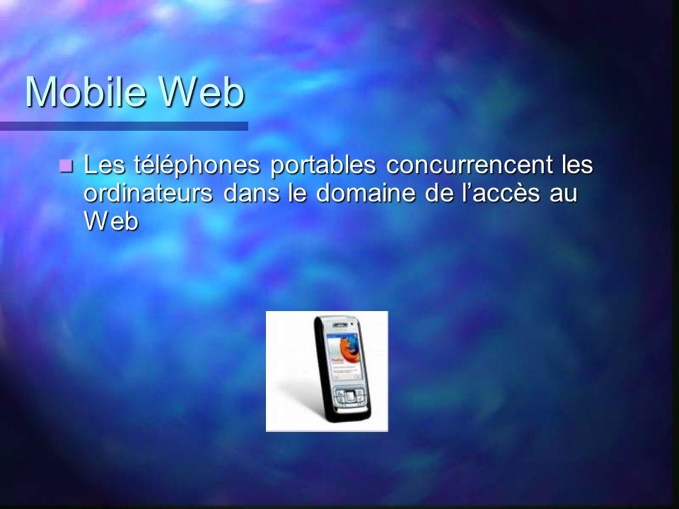 Mobile Web Les téléphones portables concurrencent les ordinateurs dans le domaine de l'accès au Web