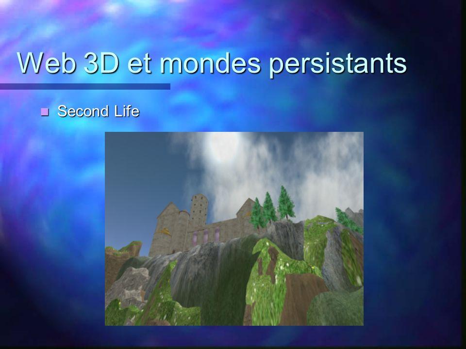 Web 3D et mondes persistants