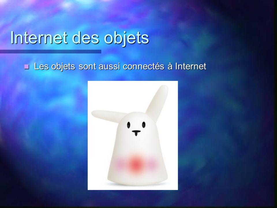 Internet des objets Les objets sont aussi connectés à Internet