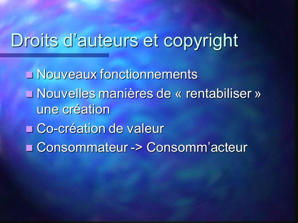 Droits d'auteurs et copyright