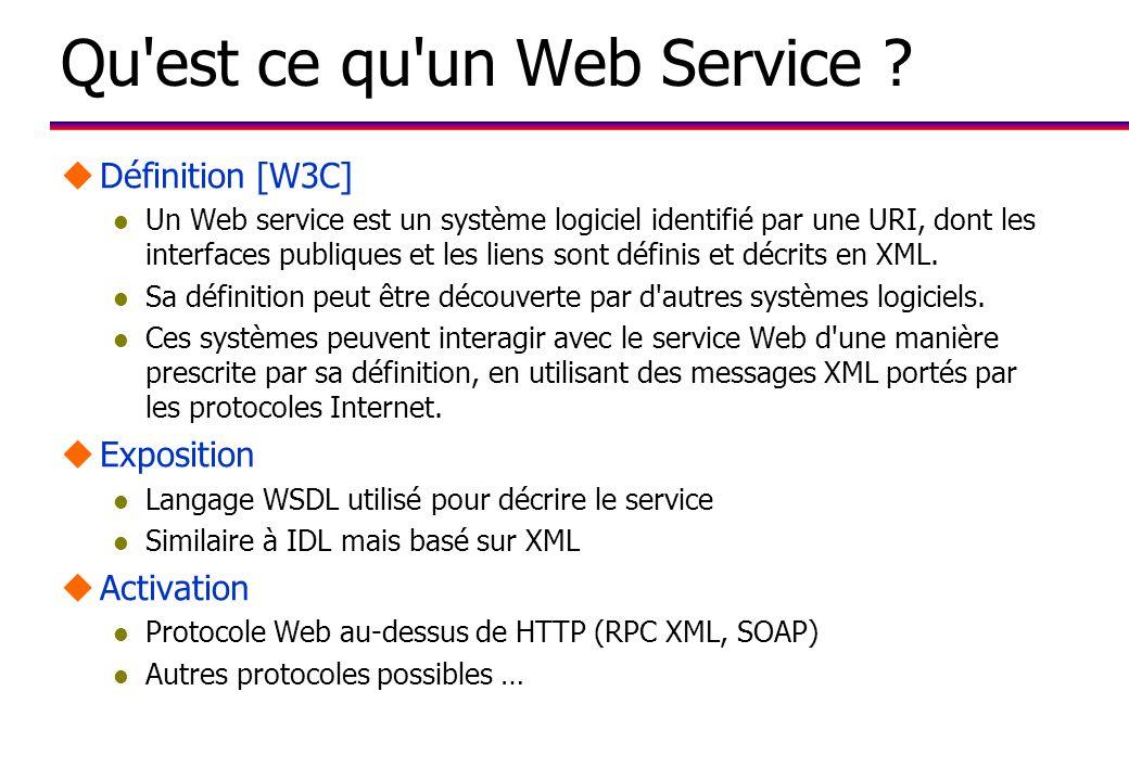 Qu est ce qu un Web Service