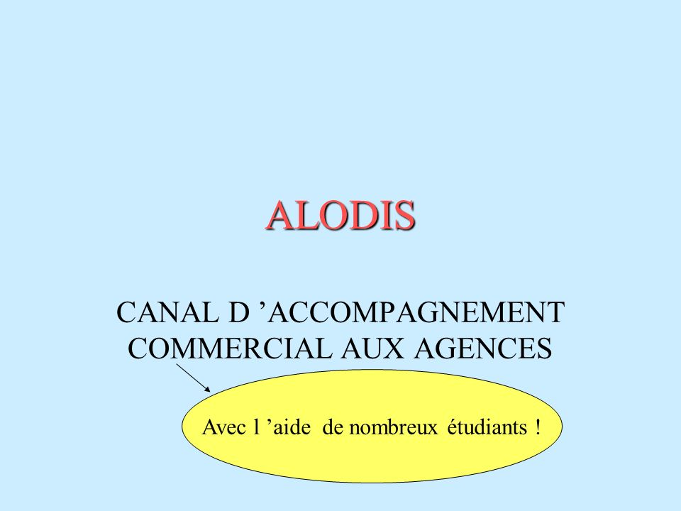 CANAL D 'ACCOMPAGNEMENT COMMERCIAL AUX AGENCES