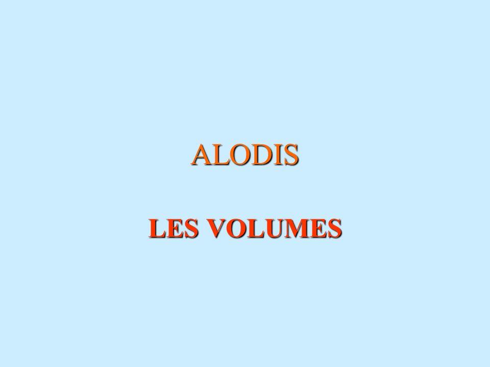 ALODIS LES VOLUMES 11