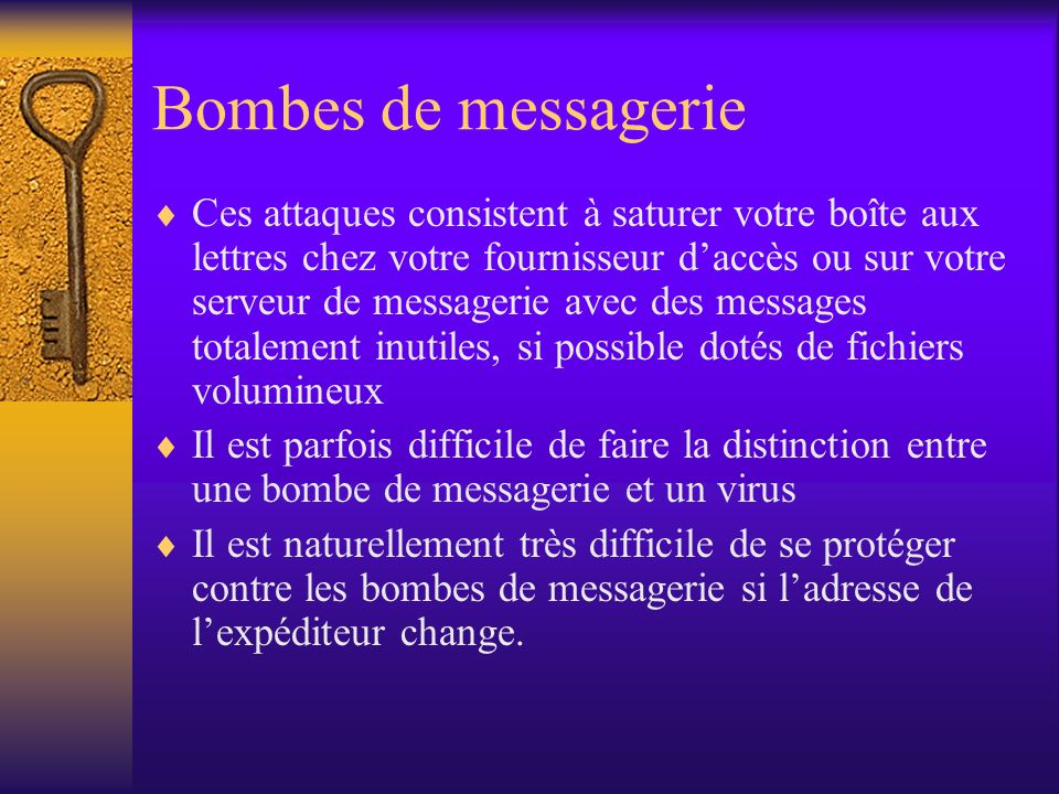 Bombes de messagerie