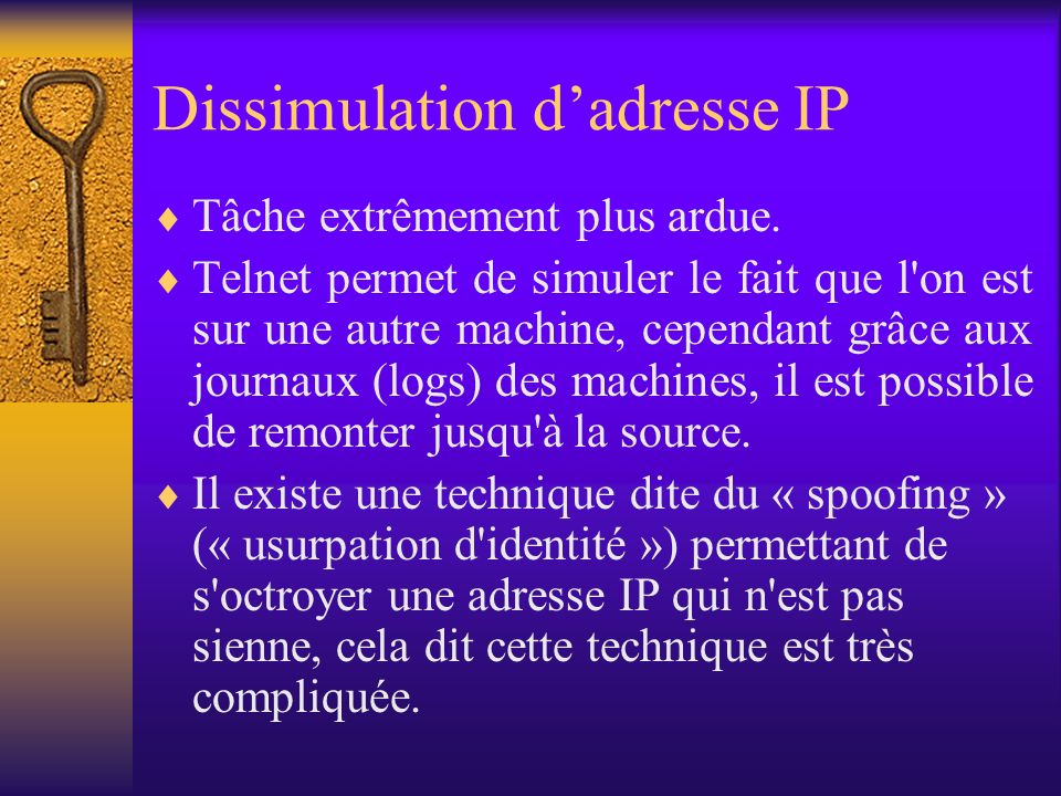 Dissimulation d'adresse IP