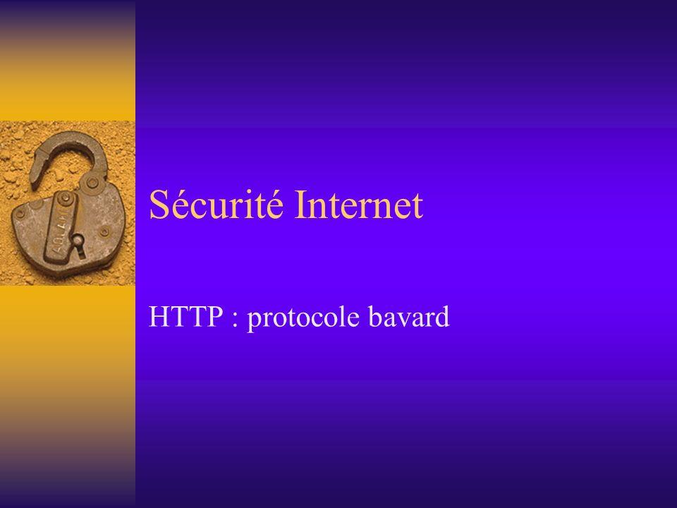 HTTP : protocole bavard