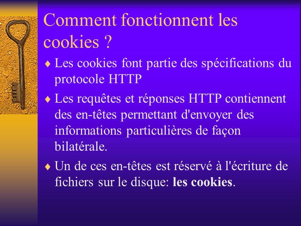 Comment fonctionnent les cookies