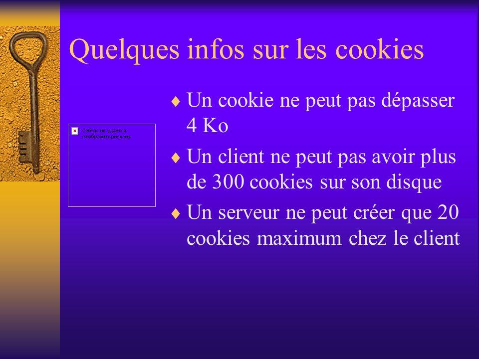 Quelques infos sur les cookies