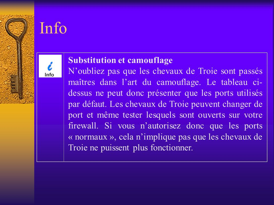 Info Substitution et camouflage