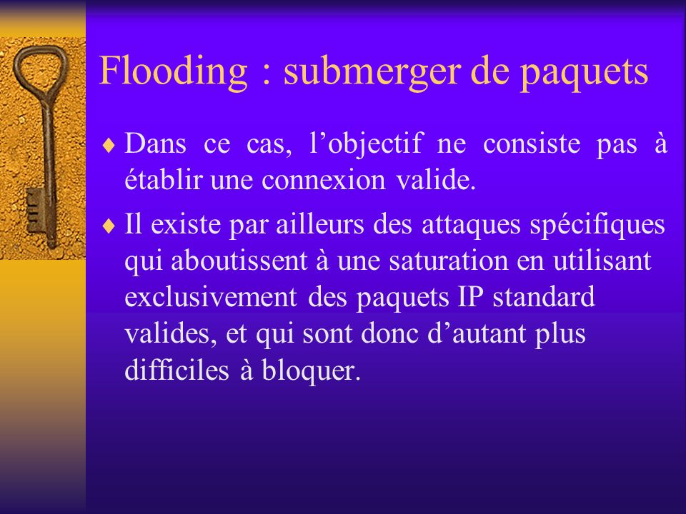 Flooding : submerger de paquets