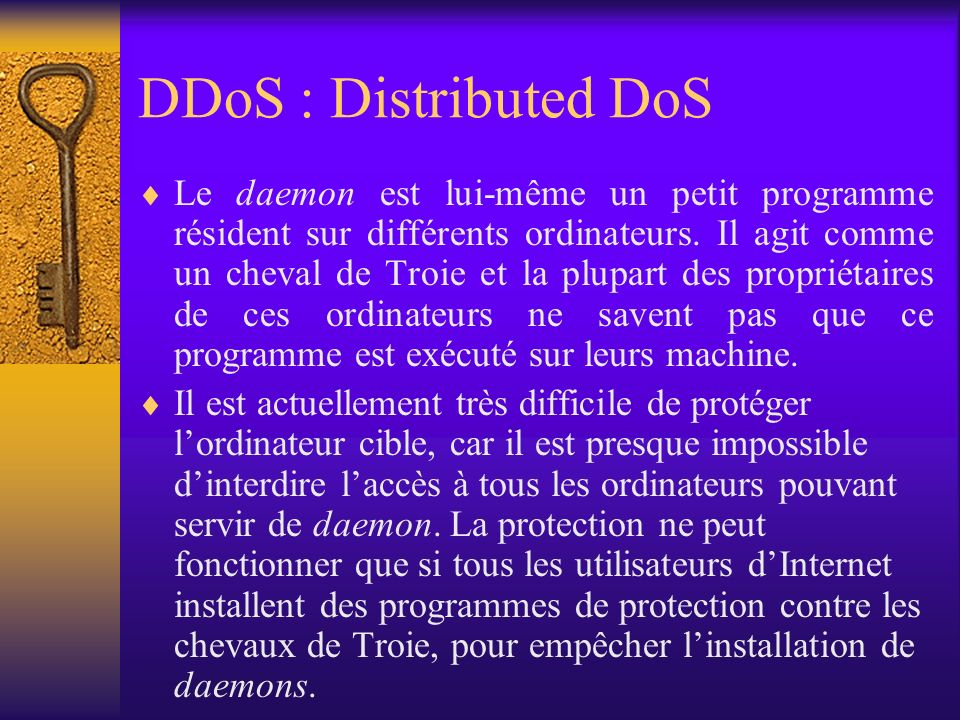 DDoS : Distributed DoS