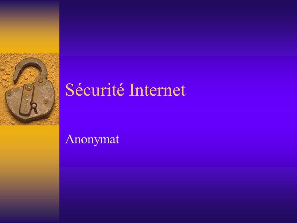 Sécurité Internet Anonymat