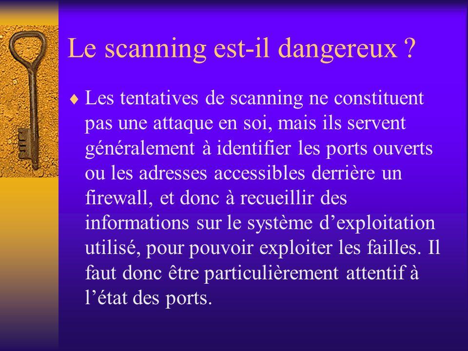 Le scanning est-il dangereux