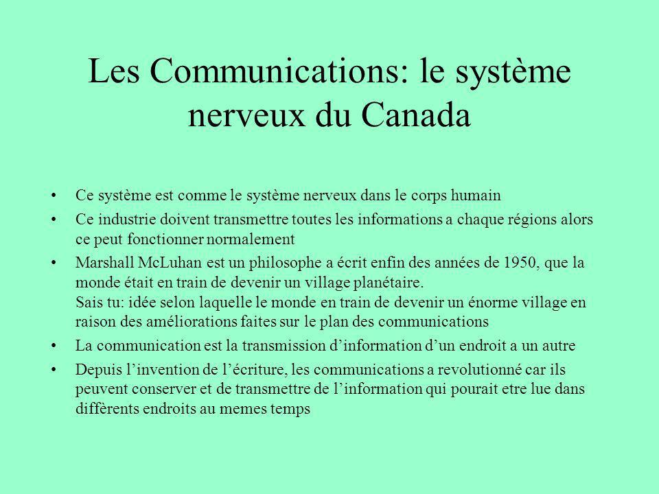 Les Communications: le système nerveux du Canada