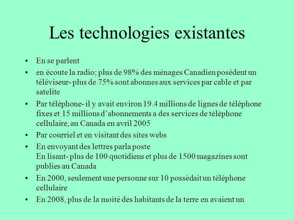 Les technologies existantes