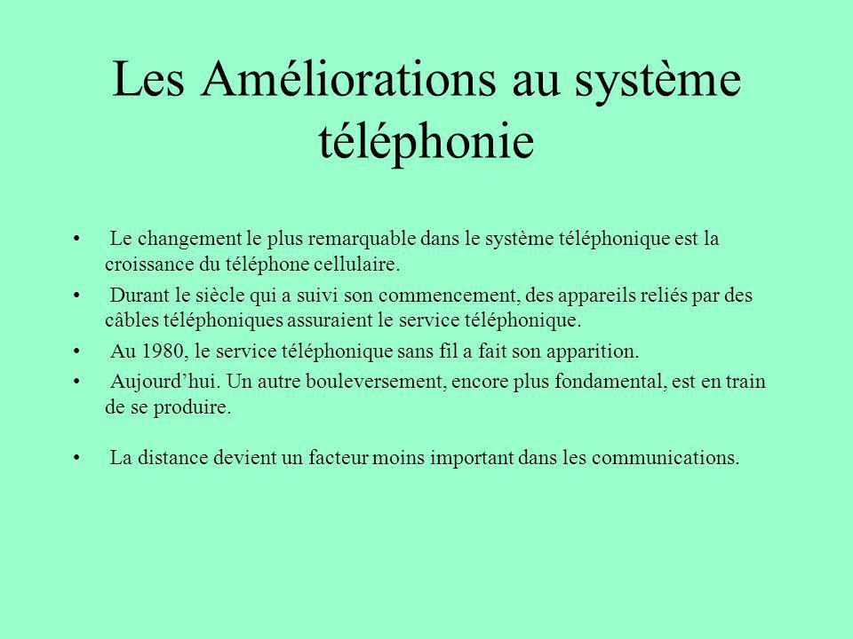 Les Améliorations au système téléphonie