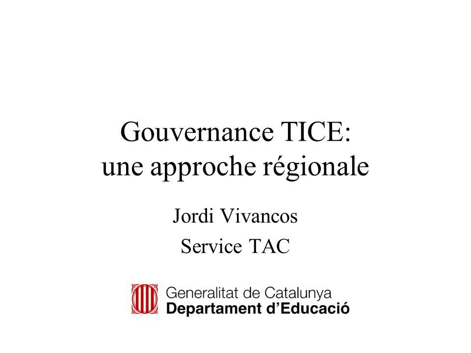 Gouvernance TICE: une approche régionale