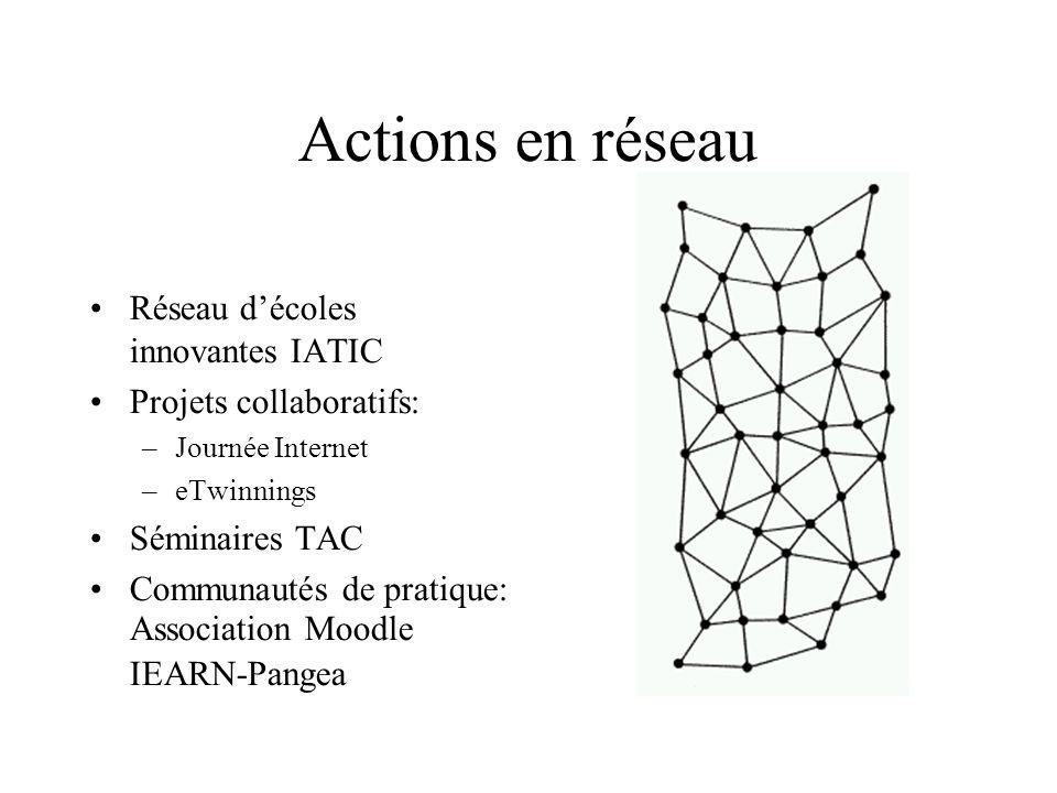 Actions en réseau Réseau d'écoles innovantes IATIC