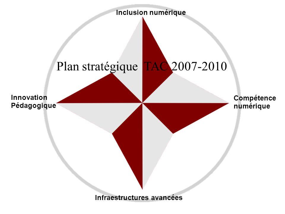 Plan stratégique TAC 2007-2010 Inclusion numérique Innovation