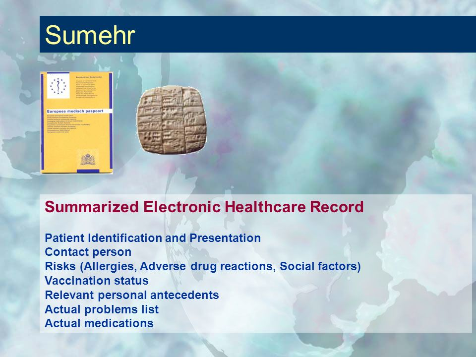 Sumehr Summarized Electronic Healthcare Record